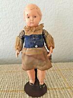 "RGCF ~ Antique German 5.5"" Celluloid Dollhouse Turtle Mark Doll"
