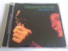 Christopher Williams - Side Streets Live AUTOGRAPHED Big Red Van Music CD