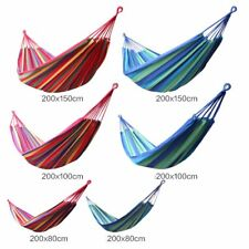 New Tree Hanging Seat Fabric Hammock Garden Yard Relaxing Bed Outdoor Camping