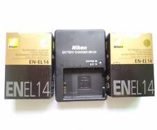 Two EN-EL14 Battery & MH-24 Charger For Nikon COOLPIX P7000 D3100 D3200 D5100