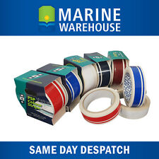 White Twin Pinstripe Vinyl Decorative Boat Tape - PSP Marine 40mm X 10M 401957