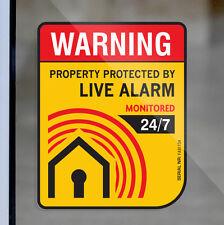 4 Home Alarm SECURITY SURVEILLANCE DECAL WINDOW DOOR STICKER Property Warning