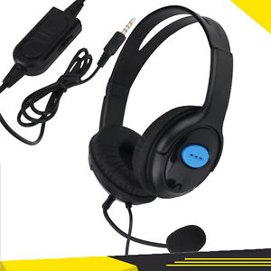 3.5mm Stereo Gaming Headset Headphones Earphone For PS4 Wired With Microphone