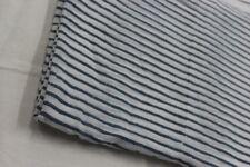 5 Yard Indian Hand Block Print 100% Cotton FabriC Black Line Stripe Fabric PU19