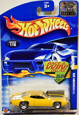 HOT WHEELS 2002 '71 PLYMOUTH GTX #116 YELLOW FACTORY SEALED