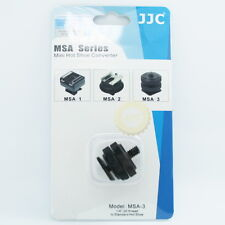"Black Hot Shoe Mount to 1/4"" Shoe Adapter for Zoom HS-1 H4n H2n Q2HD Q3HD JJC"