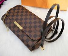 Louis Vuitton Favorite MM Damier Ebene Cross Body Clutch Bag