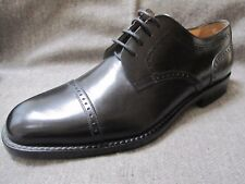 Bruno Magli Mens Talbot Dress Shoes 9.5 Black Leather Cap Toe Italy