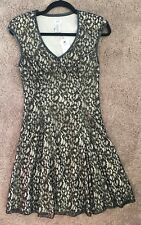 "NWT Size 4 Cache Black & Gold ""A"" Frame Dress"