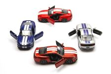 "4 PC Set: New 5"" Kinsmart 2015 Ford Mustang GT Stripe Diecast Model Toy Car 1:38"