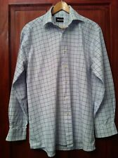 "Mens Shirt Collar 16"" Check Chest 41"" PIERRE CARDIN See Measurements (B8)"