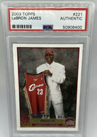 LEBRON JAMES 2003 TOPPS ROOKIE CARD #221 🔥$INVESTMENT CARD$🔥PSA/DNA AUTHENTIC
