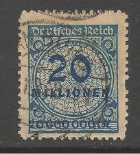 Germany #302 (A39) VF USED - 1923 20mil - Numeral - SCV $300