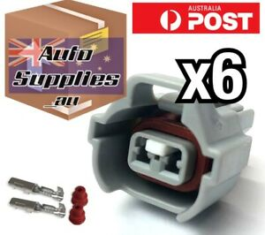 6 Pack Fuel Injector Connector Plugs Suit Nippon Denso HighTab Toyota Mitsubishi