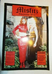 Vintage 1998 MISFITZ  Alternative Clothing Catalog Pamphlet Goth Metal Rock Punk