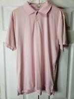 Peter Millar Summer Comfort Light Pink Golf Polo Shirt Mens Size Large