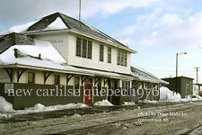 Canadian National Rwy     New Carlilse station Quebec 1976   Gaspe Peninsula