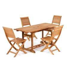 Tavolo da esterno in legno di eucalipto allungabile 120/160 arredo giardino