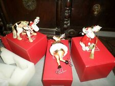 Lot 3 Lenox Christmas Ornaments Ice Skating Moose & Marcel Lumberjack & Bedtime