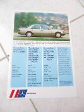 Mercedes W124 hoja catálogo folleto comercial prospekt ventas