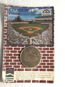 COORS FIELD 1995 COLORADO LOTTERY COIN