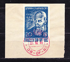 (PL) Polish Officers POW Camp Woldenberg Fi 29 used red cancel