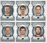"""2018 UPPER DECK HOCKEY SERIES 1 """"UD PORTAITS"""" COMPLETE YOUR SET"""