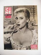 Ciné Revue France N°42 Octobre 1954 Martine Carol Silvana Pampani
