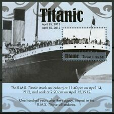 Tuvalu 2012 MNH RMS Titanic 100 Years 1v S/S Boats Ships Nautical Stamps