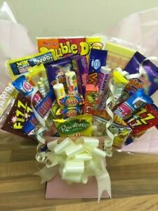 Mixed Sweet Retro Variety Bouquet Candy Gift Box Hamper Old School Swizzler Chew