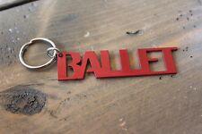 Metal Cut Out Ballet Key Chain