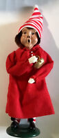 PAJAMA BOY WITH CANDLE STICK IN RED NIGHT SHIRT  BYERS CHOICE LTD