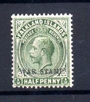 Falkland Islands KGV 1918-20 1/2d yellow green War Stamp MH SG70A WS20402