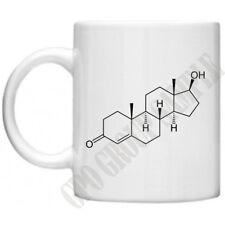 Testosterone Chemical Structure Weight Training Equipment Gym Coffee Tea Mug