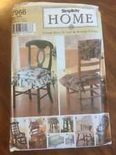 UNCUT Simplicity Home Chair Pads Futon And Glider Covers Sewing Pattern 7966