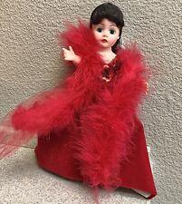 """Madame Alexander 10"""" Scarlett Red Velvet & Feather Dress Doll RARE"""