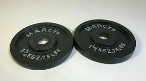 """2 x 1.25kg MARCY Cast Iron Weights Gym Barbell Dumbbell 1"""" Fitness"""
