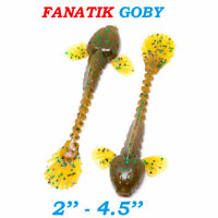 """Fanatik GOBY 2""""-4.5"""" Eatable Soft Fishing Lures Silicone Baits Imitation of Fry"""