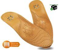 Semelles en cuir de soutien de la voûte plantaire pied plat cuir et silicone