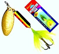 NEW Rooster Tail FIRE TIGER Spinner Fishing Lures - Choice of Size / Quantity