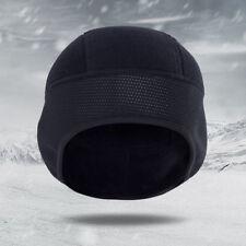 5d825672123 Windproof Men Fleece Winter Outdoor Beanie Hat Cycling Running Black Ear  Cap US