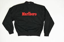 Malboro Reversible Vintage L Long Sleeve Solid Full Zip Black/Red Cotton Casual
