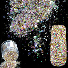 Nail Art 5g Mix Size Glitter Powder Dust Red Pink Acrylic Sequins Manicure Decor