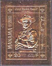 Manama 1970 Scout Pfadfinder Baden-Powell, Mi.261B Gold MNH