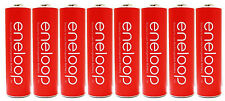 """8 Panasonic Eneloop AA 2000mAh NiMH Pre-Charged Rechargeable Batteries """"Red"""""""