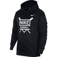 Nike Baseball Hoodie T-Shirts Men's Clothing Casual Outdoor Black NWT AA0693-010