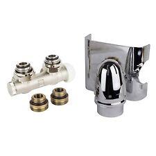 HERZ Anschlussgarnitur für Badheizkörper Mittelanschluss 50 mm ECK Chrom