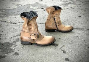 AS 98 Airstep Ankle Leather Boho Biker Boots EUR 38
