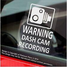 4 X Pegatinas de Advertencia de grabación de leva de la rociada de advertencia-Cctv Sign-coche, taxi, Mini Cab-60mm