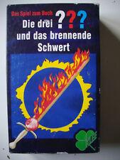 Spiel zum Buch - DIE DREI ??? (FRAGEZEICHEN) UND DAS BRENNENDE SCHWERT von Klee
